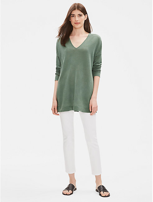 Organic Linen Cotton V-Neck Tunic