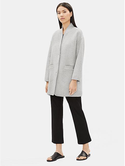 Organic Cotton Doubleknit Diamond Jacket