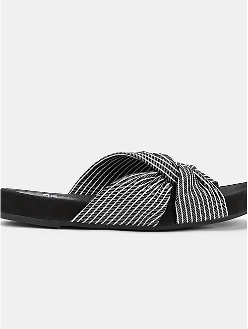 Pal Canvas Stripe Slide