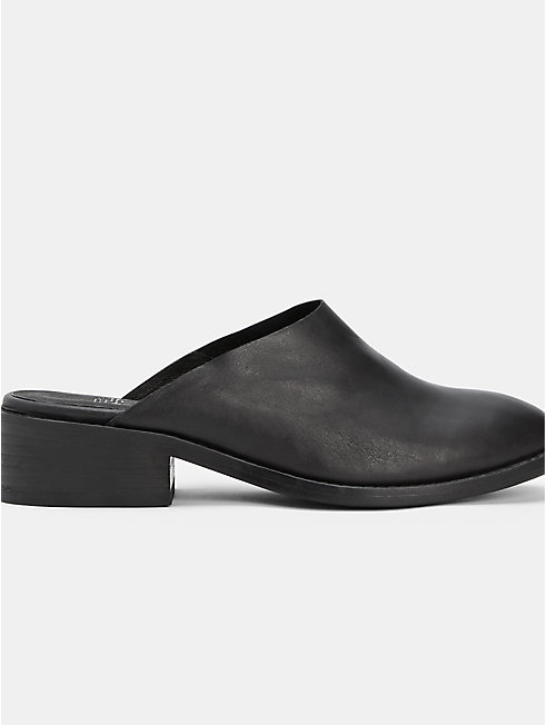 Toni Washed Leather Mule