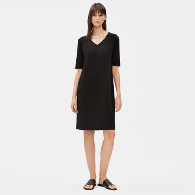 Tencel Jersey V-Neck Shift Dress