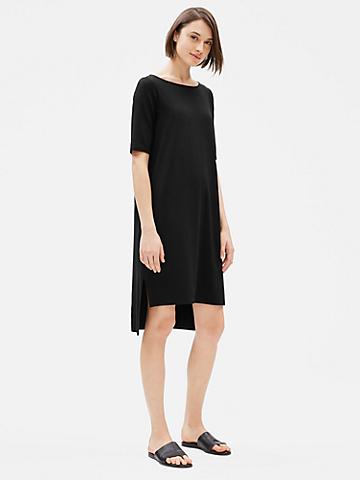 Tencel Jersey Elbow-Sleeve Dress