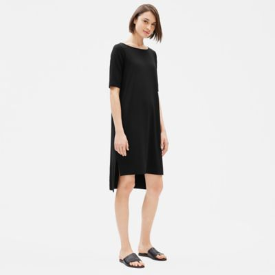 Tencel Jersey Elbow-Sleeve Dress