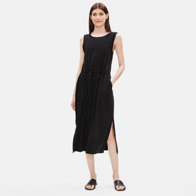 Tencel Jersey Drawstring Dress