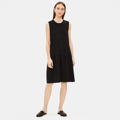 Tencel Jersey Drop-Waist Dress