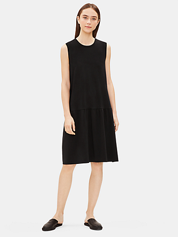 Tencel Jersey Drop-Waist Dress