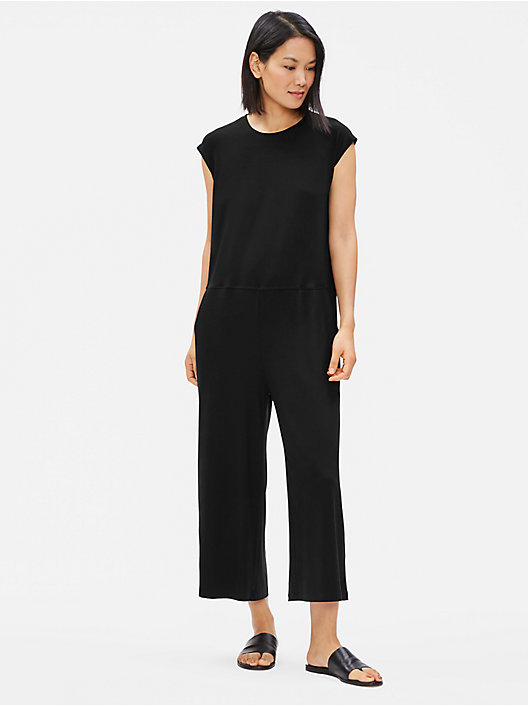7b67d1661ca BLACK QUICK VIEW. BLACK  INK. Tencel Jersey Wide-Leg Jumpsuit