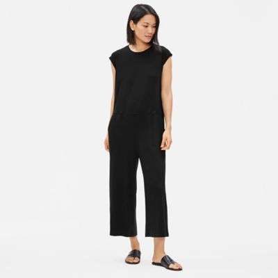 Tencel Jersey Wide-Leg Jumpsuit