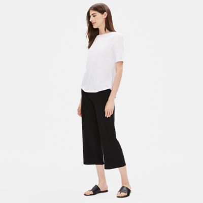 Tencel Jersey Straight Cropped Pant