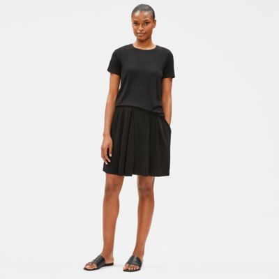 Tencel Jersey Pleated Shorts