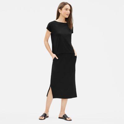 Tencel Jersey Slim Skirt