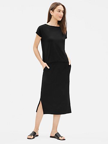 Tencel Jersey Slim Skirt