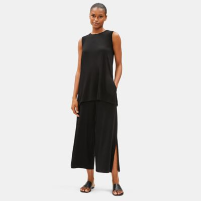 Tencel Jersey Tunic with Side Slits