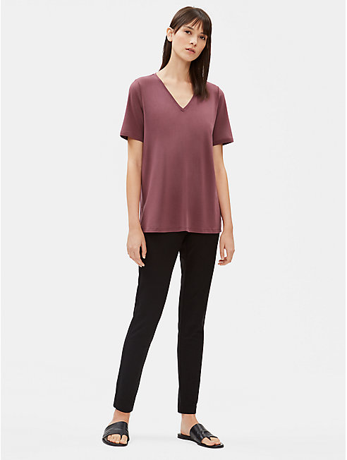 Tencel Jersey V-Neck Top