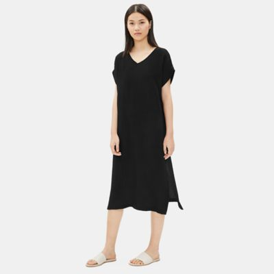 Organic Cotton Gauze V-Neck Dress