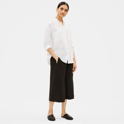 Organic Cotton Gauze Classic Collar Shirt