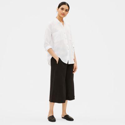 Organic Cotton Gauze Classic Collar Shirt