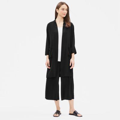 Silk Georgette Crepe Jacket