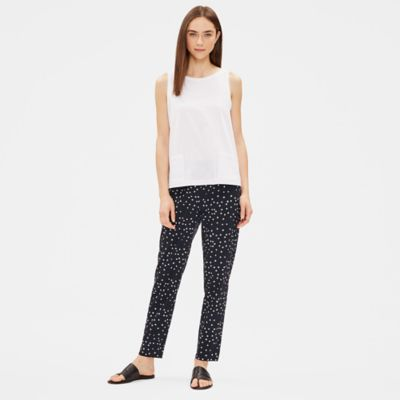 Hand-Printed Organic Cotton Slouchy Pant