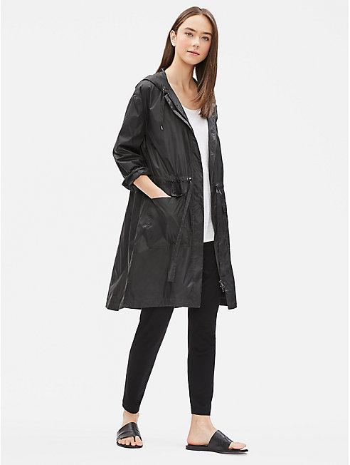 Recycled Nylon Hooded Jacket
