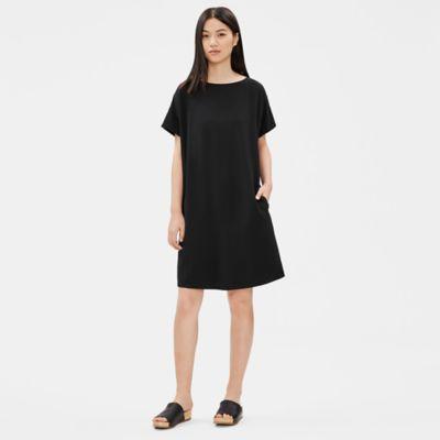 Tencel Viscose Crepe Shift Dress