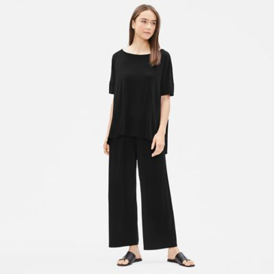 Stretch Silk Jersey Short-Sleeve Tee