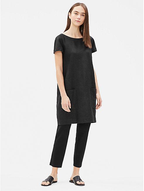 Heavy Organic Linen Shift Dress