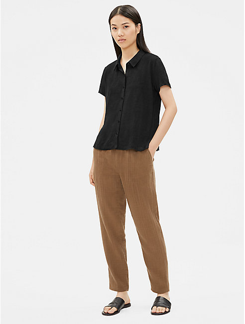 Organic Linen Jersey Short-Sleeve Shirt