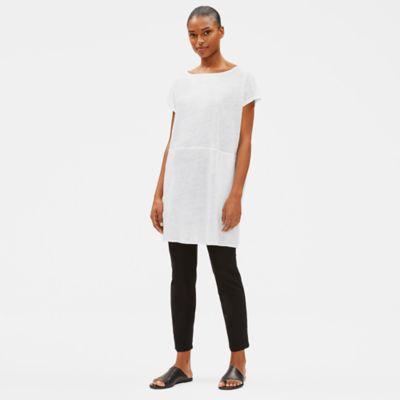 Organic Linen Jersey Bateau Neck Tunic