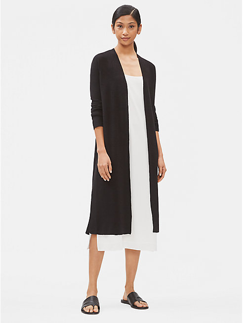 Organic Linen Crepe Stretch Duster Cardigan