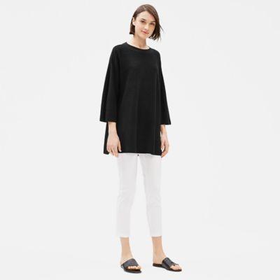 Organic Linen Crepe Stretch Tunic