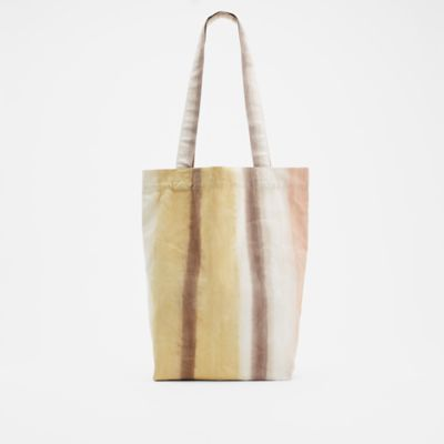 Natural-Dyed Organic Cotton Canvas Tote