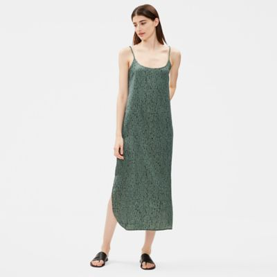 Silk Organic Cotton Dash Slip Dress
