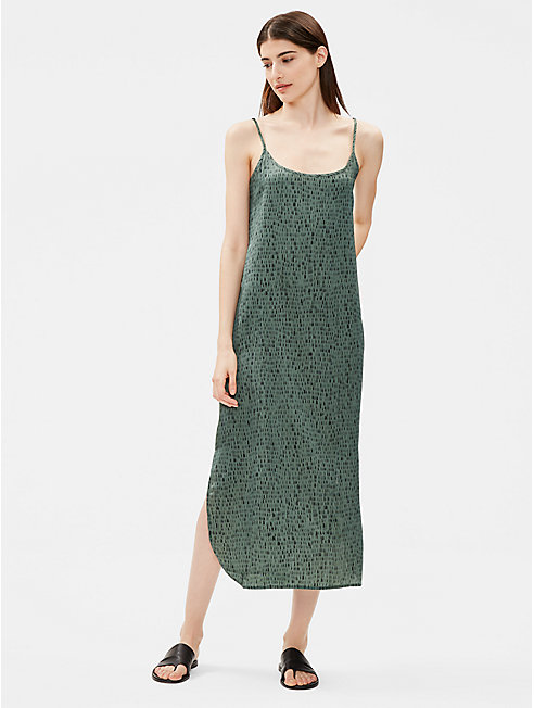Silk Organic Cotton Dash Slip Dress
