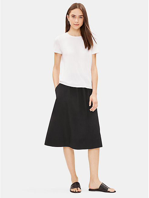Organic Cotton Gathered Skirt