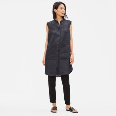 Organic Linen Délavé Shirt Dress