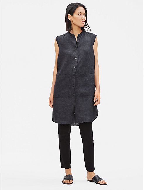 Organic Linen Délavé Shirt Dress
