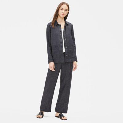 Organic Linen Délavé Shirt Jacket