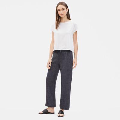 Organic Linen Délavé Wide-Leg Pant