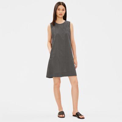 Organic Cotton Stencil Print A-Line Dress