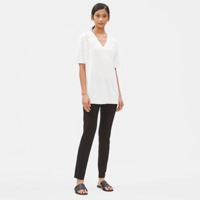 Organic Linen Cotton V-Neck Tunic