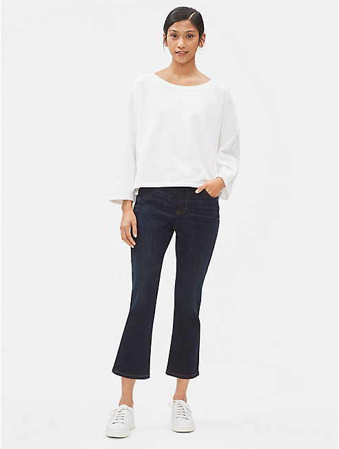 Organc Cotton Stretch Slim Cropped Jean