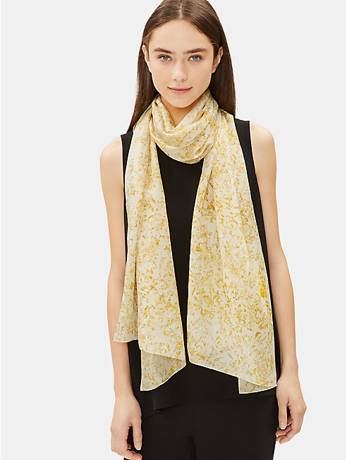 Marigold Natural-Dyed Silk Scarf