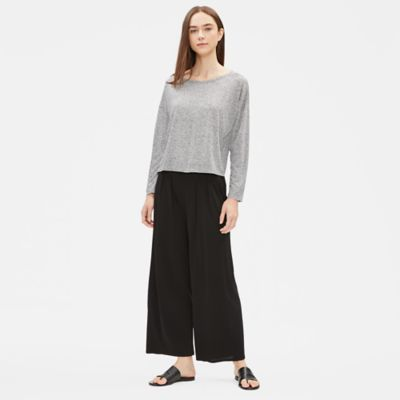 Tencel Recycled Silk Jersey Cropped Box-Top