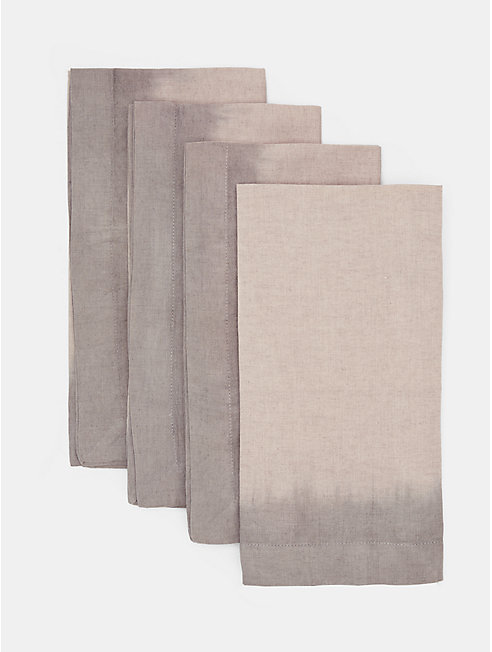 Natural-Dyed Organic Linen Napkin Set