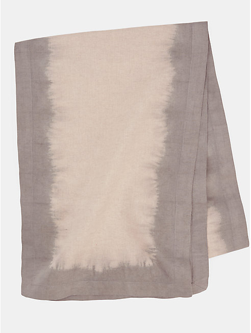 Natural-Dyed Organic Linen Runner