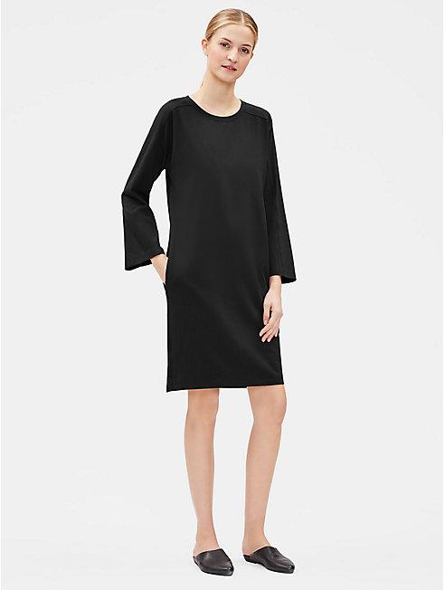 Cotton Stretch Jersey Bracelet-Sleeve Dress