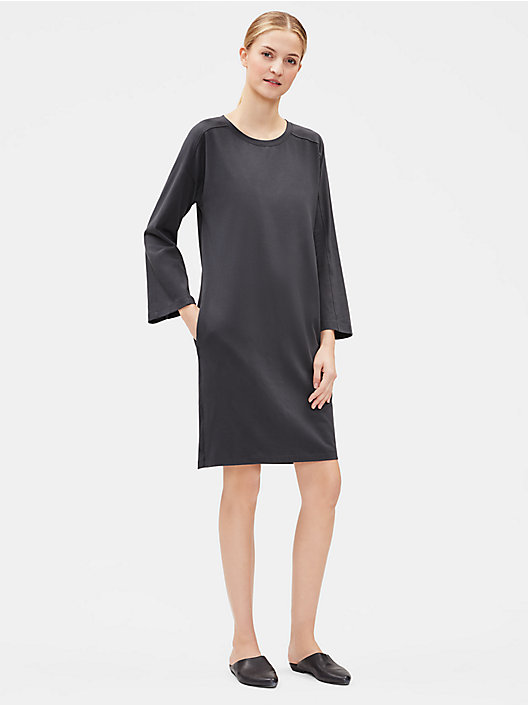 3a2bbf7b9b9c0e QUICK VIEW. GRAPHITE; BLACK; CERMAIC. Cotton Stretch Jersey Bracelet-Sleeve  Dress