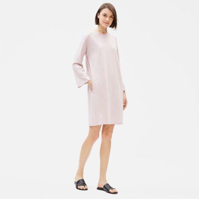 Cotton Stretch Jersey Bracelet-Sleeve Dress