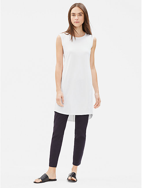 Cotton Stretch Jersey Scoop Neck Dress